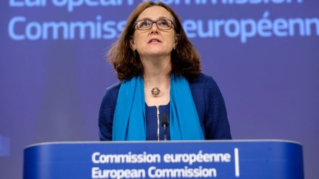 European Commissioner for Trade Cecilia Malmstrom