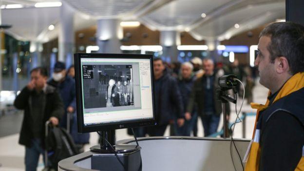 İstanbul Havalimanı'ndaki termal kamera uygulaması.