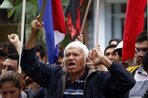 مراسم روز جهانی کارگر در آسانسیون پایتخت پاراگوئه