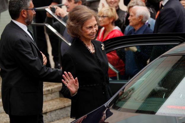 Queen Sophie at Montserrat Caballé's funeral