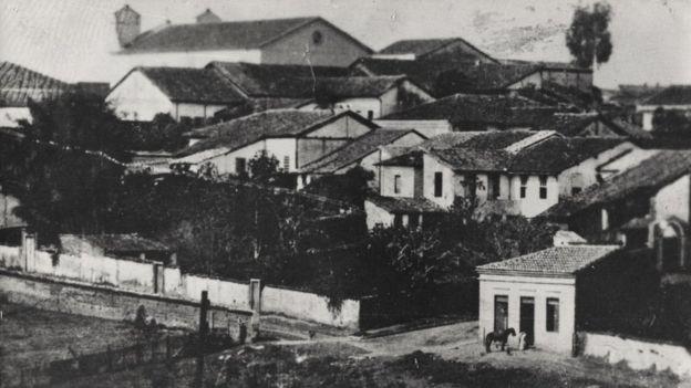 A cidade de Penha do Rio do Peixe por volta de 1880