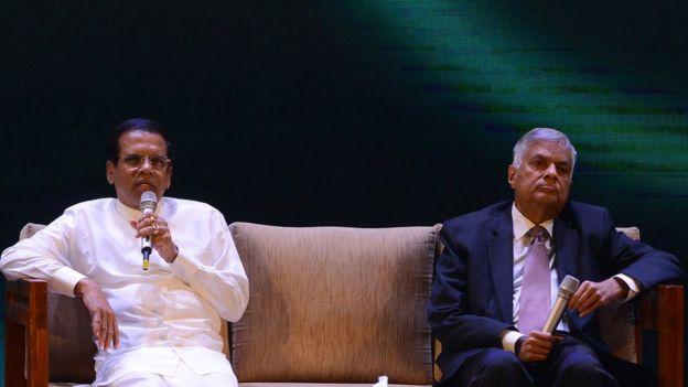 மைத்திரிபால சிறிசேன மற்றும் ரணில் விக்கிரமசிங்க