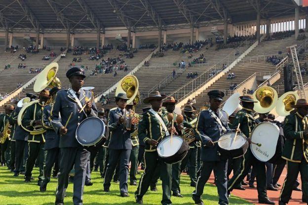 Band at stadium