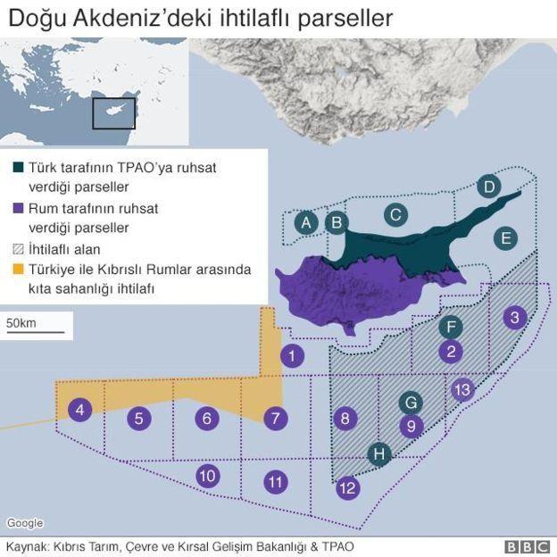Doğu Akdeniz'deki ihtilaflı parseller