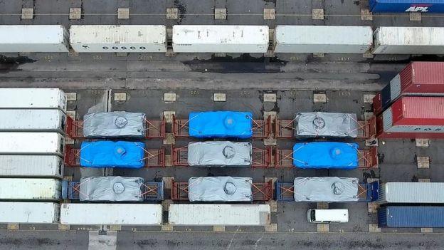 新加坡陸軍裝甲車在香港葵涌貨櫃碼頭被扣查情況(11/2016)