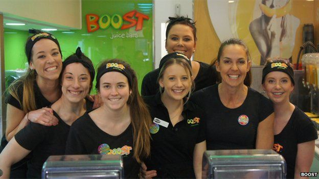 Janine Allis and members of staff