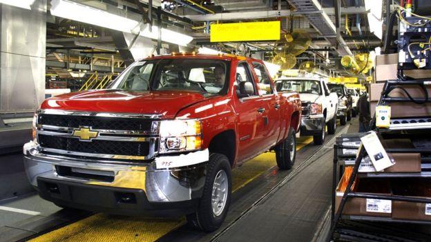 La fabricación de camionetas es una de las prioridades de GM.