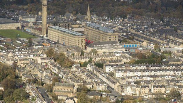صورة جوية لمدينة برادفورد