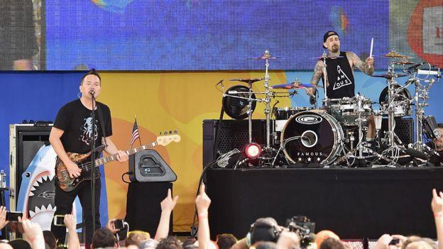 Blink 182 en concierto.
