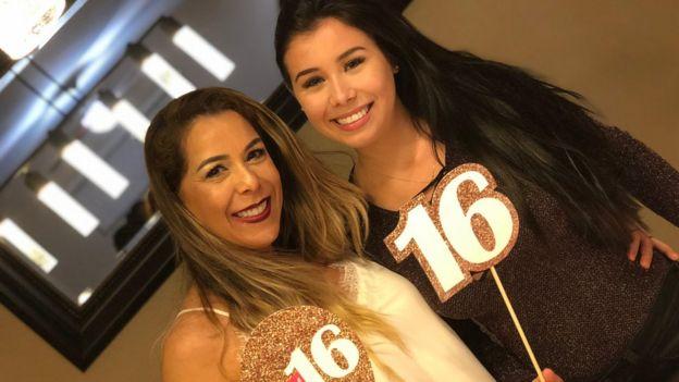 Fabiana Santos e a filha, Kemily dos Santos Duchini