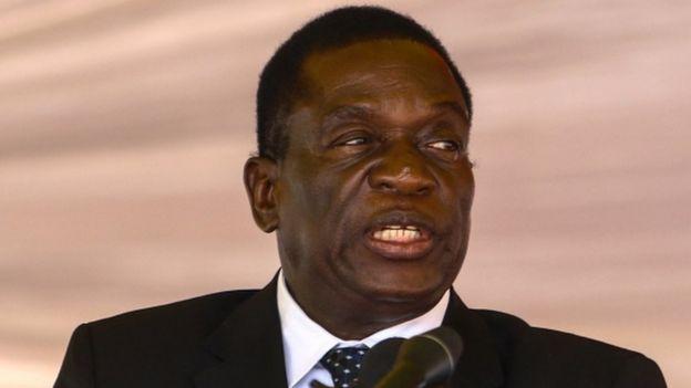 Emmerson Mnangagwa (January 2017 picture)