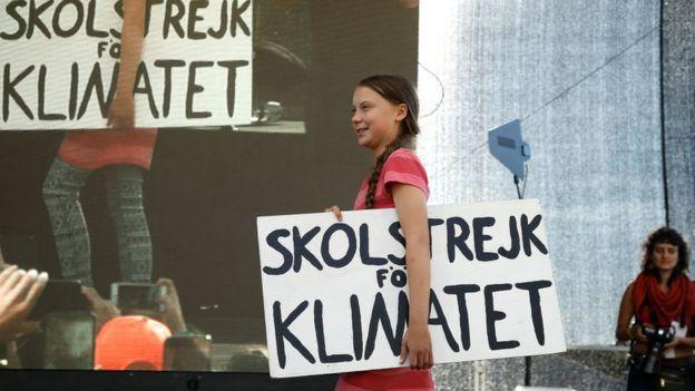Greta Thunberg en Nueva York.