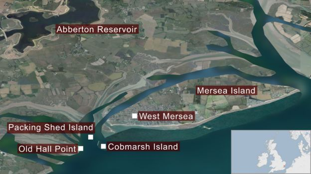 mersea island essex map
