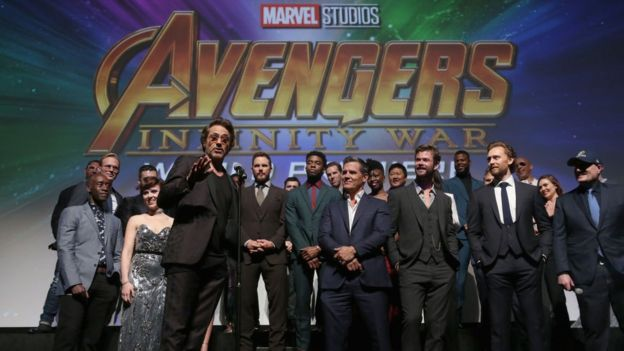 The cast of Avengers Infinity War
