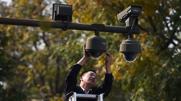 चीन में सीसीटी कैमरा सर्विलेंस