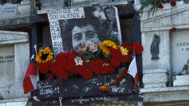 Grave of Victor Jara, main graveyard of Santiago.