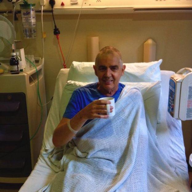 Gary Hodges in hospital