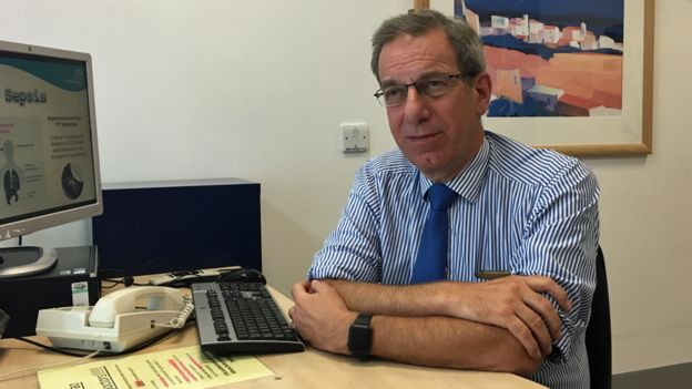 Prof Hillmen in his office