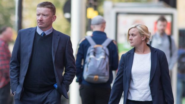 Paul Oliver and Hannah Rose at Birmingham Magistrates' Court in August 2018