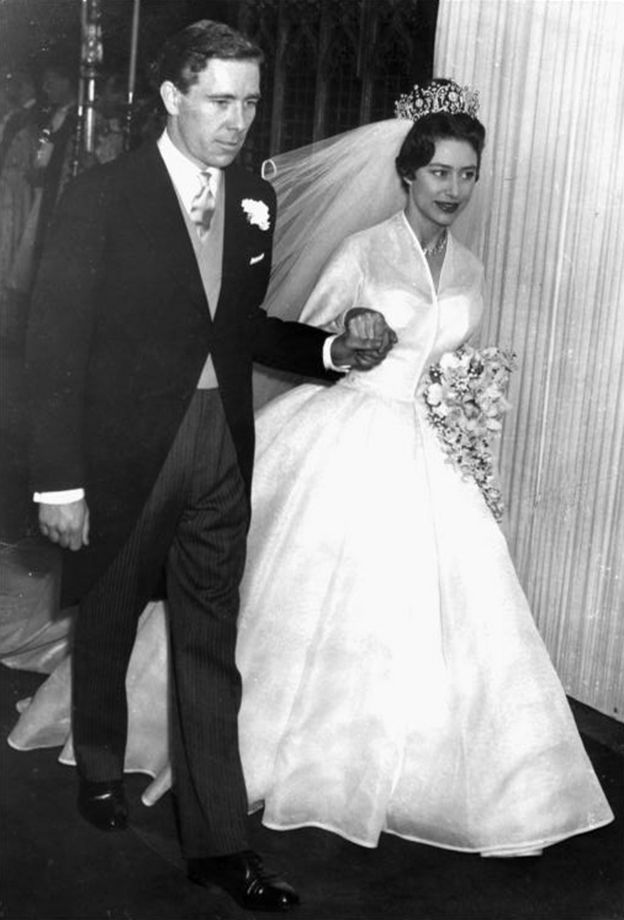 princess margaret and the former anthony armstrong jones lord snowdon leaving westminster abbey on