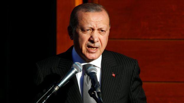 Madaxweyne Erdogan oo Jarmalka ku tilmaamay mid argagixisada qariya