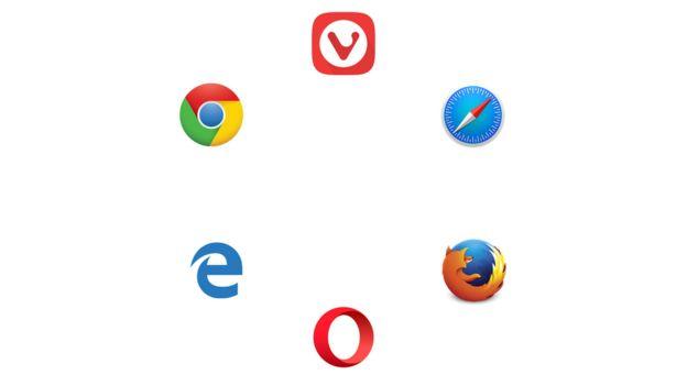 Logos de los 6 buscadores