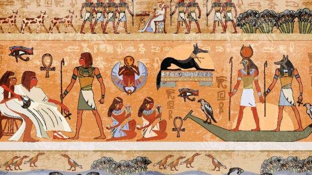 Representación de la civilización egipcia