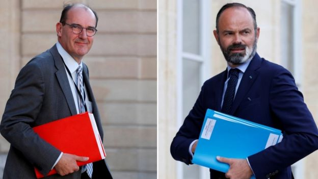 Jean Castex and Edouard Philippe
