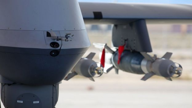Drone with bombs