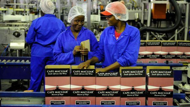 南非工厂女工