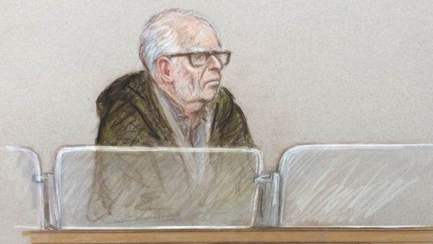 Court sketch of Roger Dodds