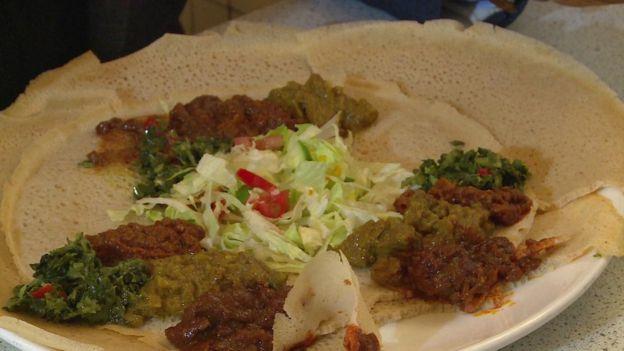 Injera and stew