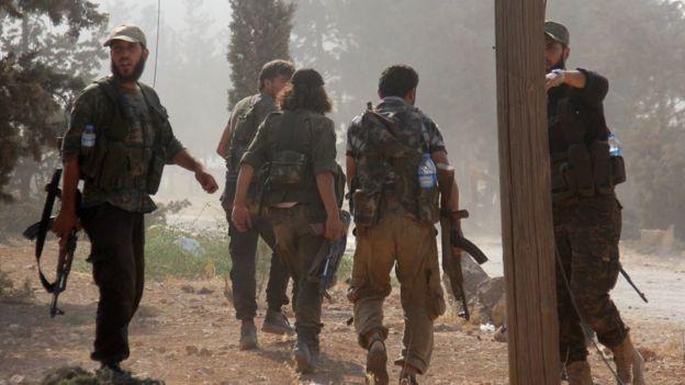 Bölgede bulunan en etkili cihatçı grubun Nusra Cephesi olduğu bildiriliyor.