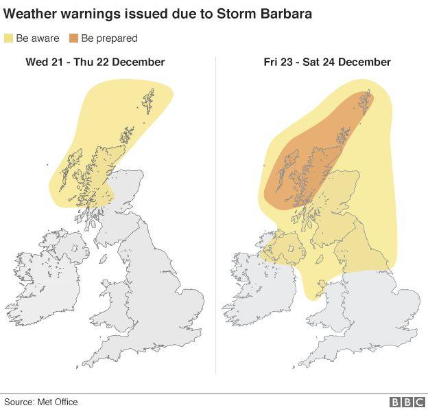 Storm Barbara map