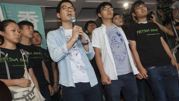 (左至右)羅冠聰、黃之鋒、周永康(17/8/2017)
