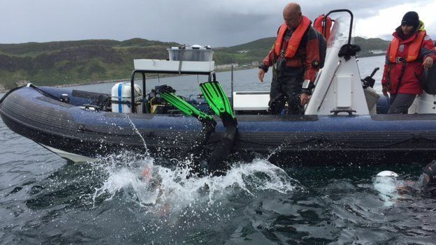 Scientists dropping anchor off Rathlin Island