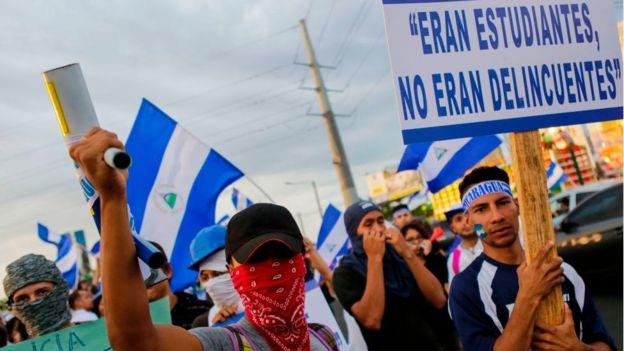 Manifestaciones de estudiantes en Nicaragua.