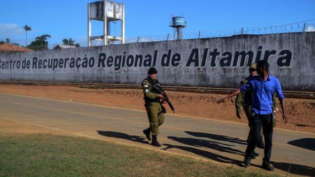 Exterior de prisión brasileña de Altamira.