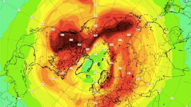 Registro de temperaturas en el Ártico.