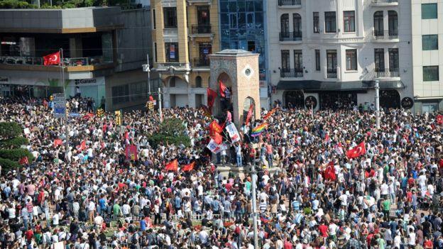 Gezi protestolarından bir kare