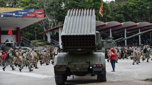 Una batería antiaérea de Venezuela