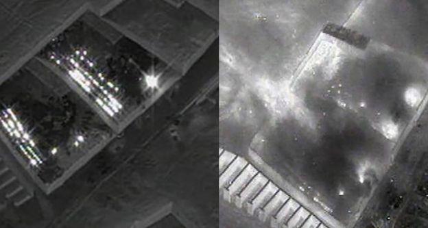 El antes y el después del ataque a un complejo en el que se producía heroína.