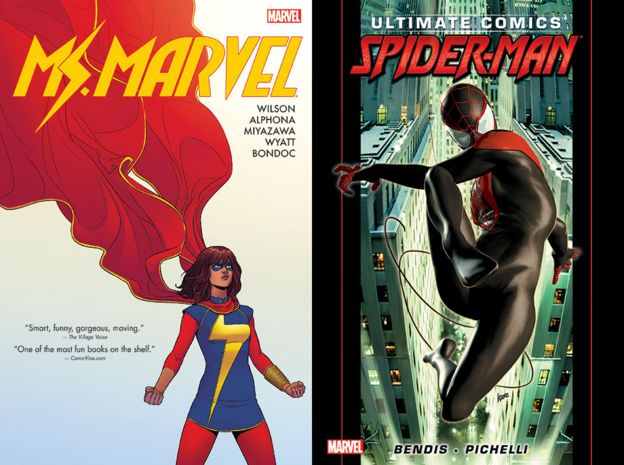 Capas de 'Ms. Marvel' e 'The Ultimate Spider-Man'
