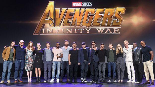 Parte del elenco de Avengers.