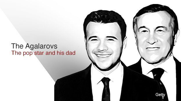 The Agalarovs - the pop star and his dad