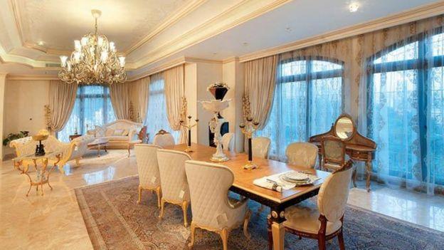 نمونه یکی از آپارتمانهای برج روما که برای نمایش گذاشته شده است