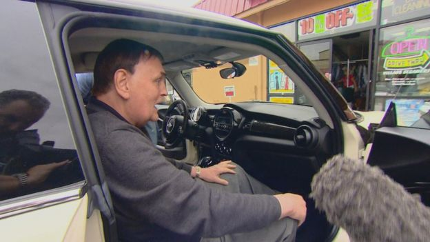 Jim Torbett in car