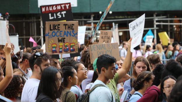Protesta ambiental en Nueva York
