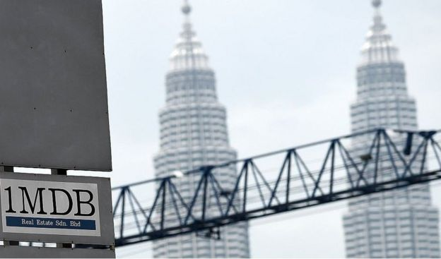 1MBD logo in front of Petronas towers