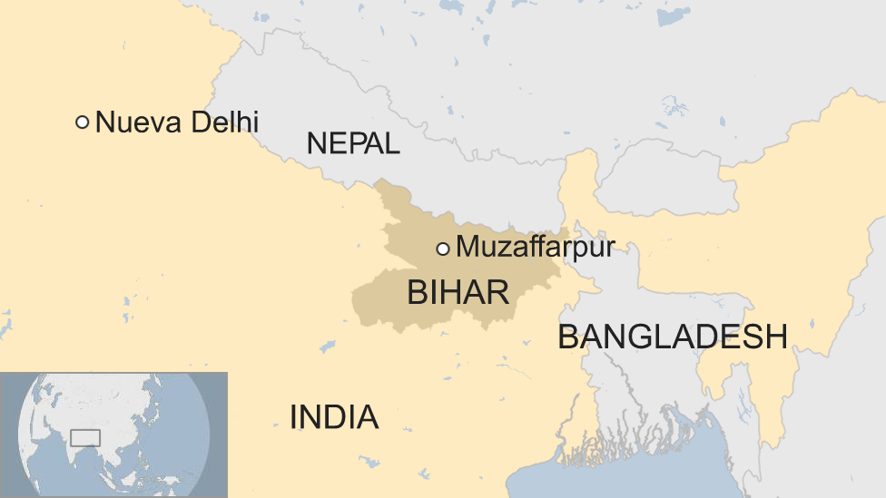 Mapa Muzaffarpur, India